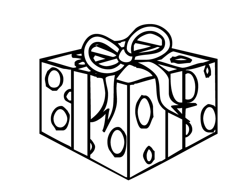 800x600 Christmas Present Coloring Pages Printable For Fancy Draw Image
