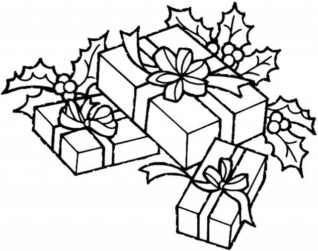640x505 Christmas Tree With Presents Drawing Put All Christmas, Christmas