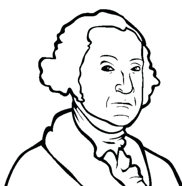 600x612 George Washington Coloring Pages President Coloring Page A Drawing