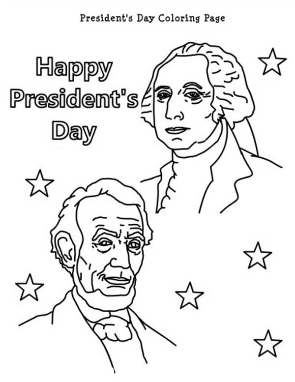 600x777 Happy Presidents Day With Lincoln And Washington Coloring Page