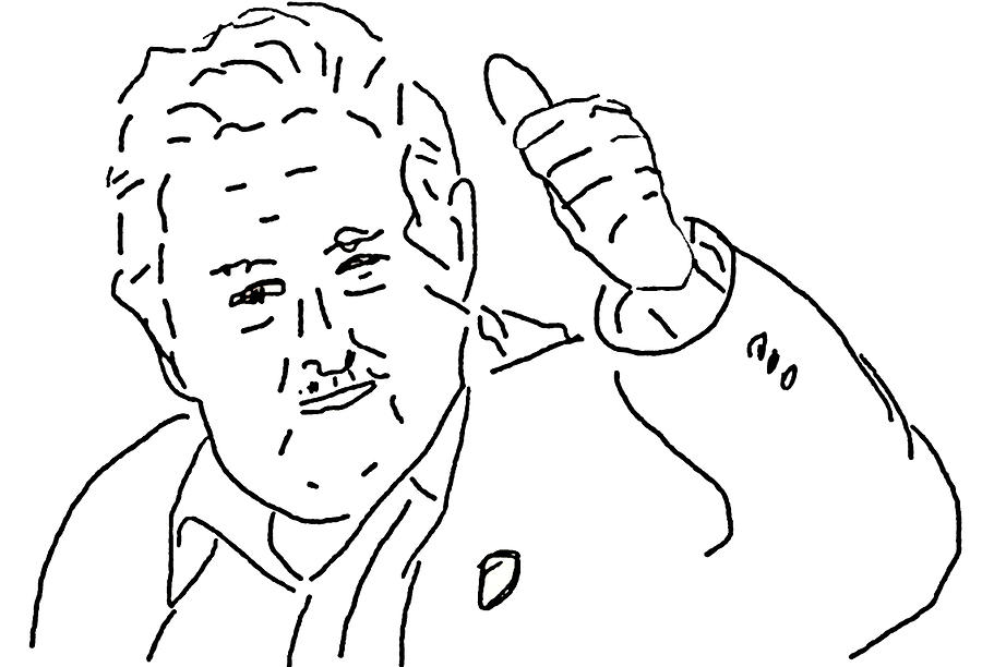 900x612 Jose Mujica The World's Poorest President Drawing By Albert Sellaman