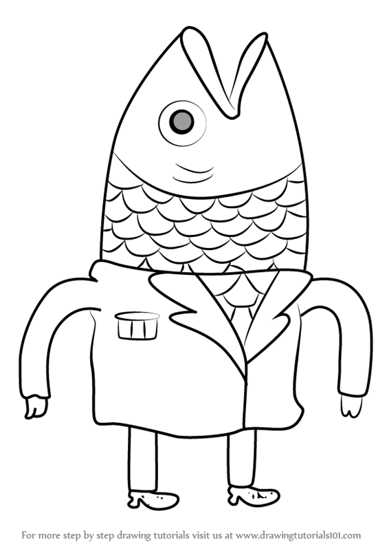 566x800 Learn How To Draw President Fishhead From Bravest Warriors