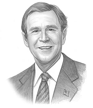 300x350 Picture Of George W Bush