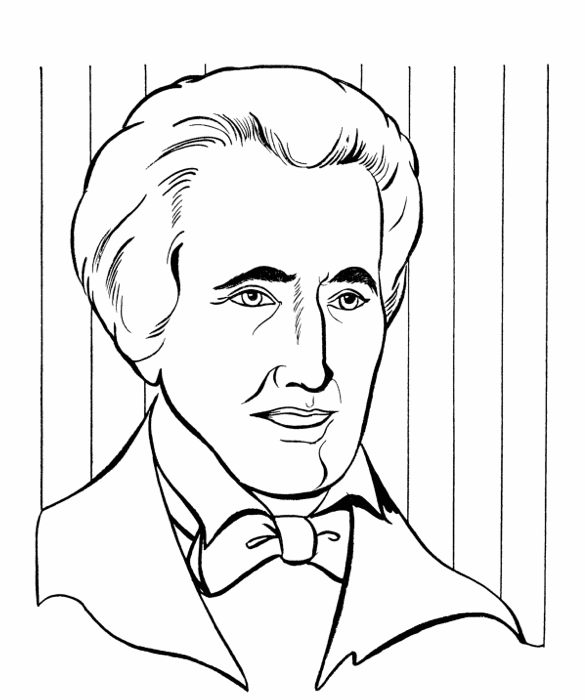 585x700 President Andrew Jackson Coloring Page Amp Coloring Book