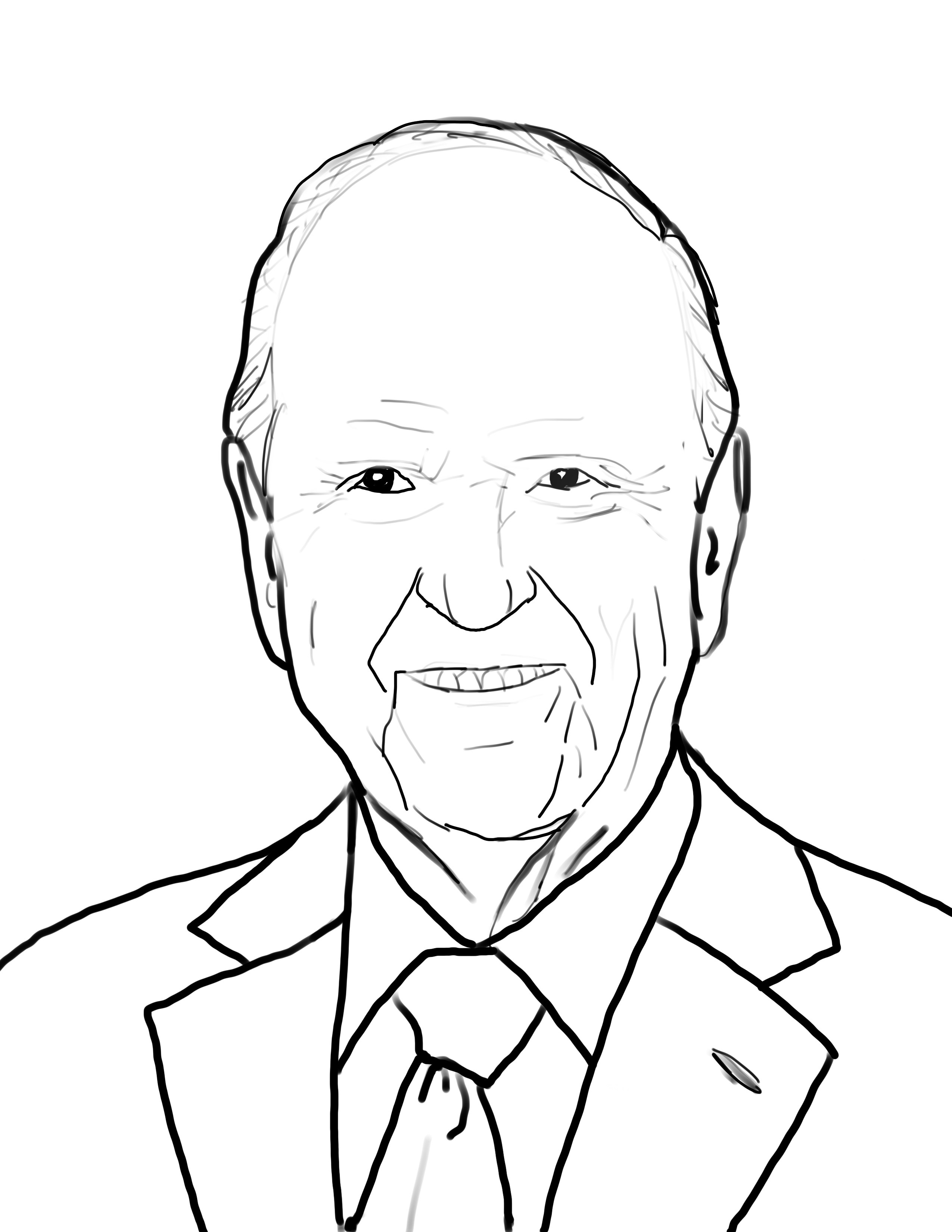 2550x3300 President Russell M. Nelson Coloring Page