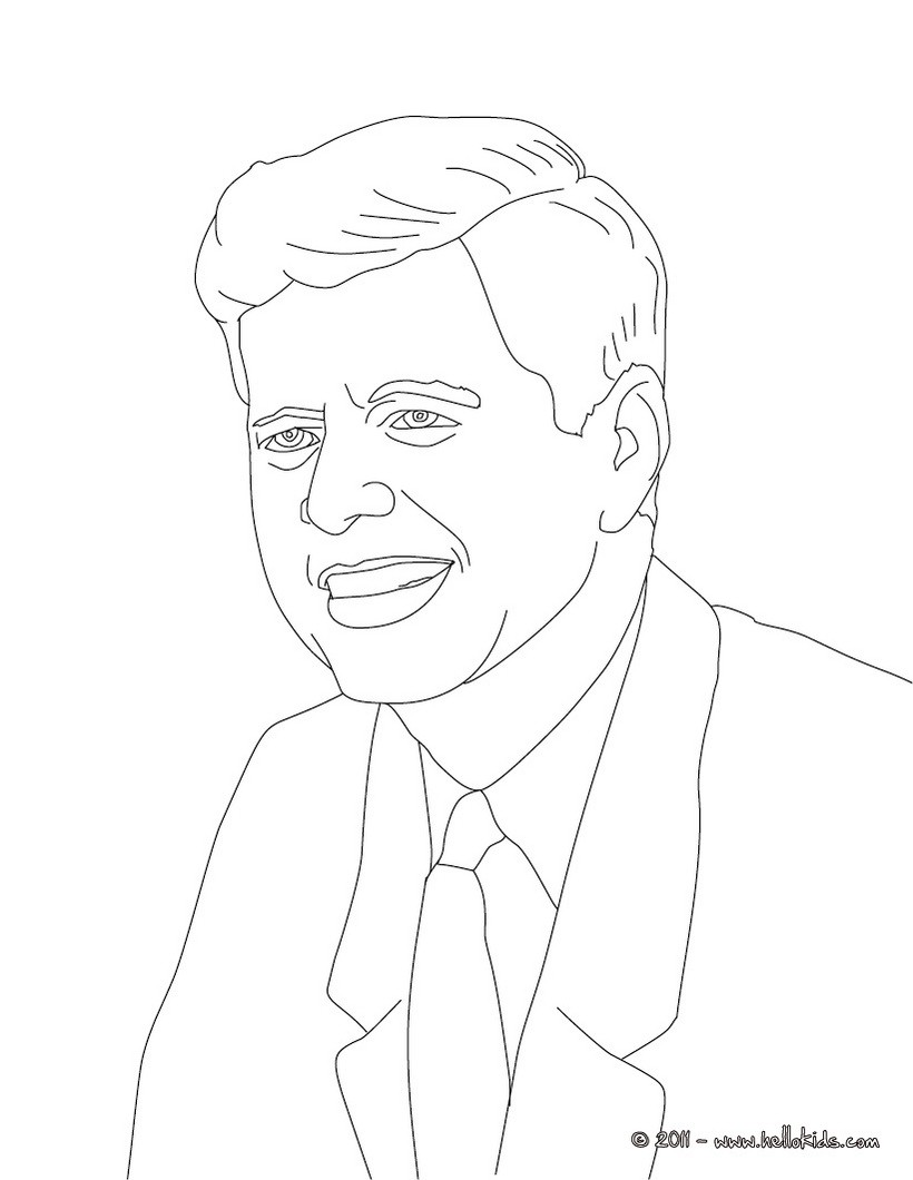 820x1060 President John F. Kennedy Coloring Pages