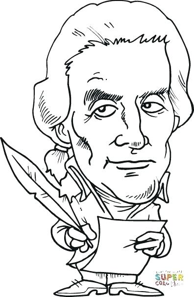 396x606 Amazing Thomas Jefferson Coloring Page Free Download Pictures