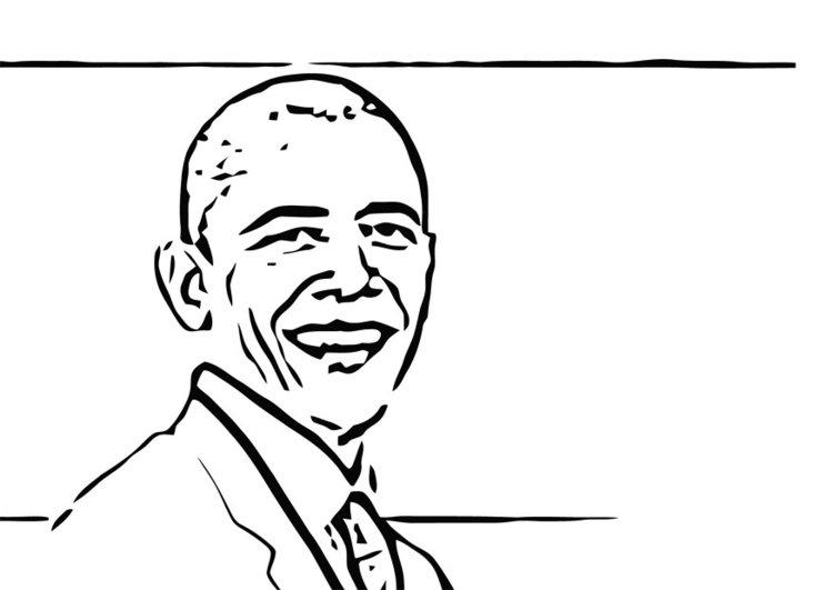 750x531 Coloring Page Barack Obama