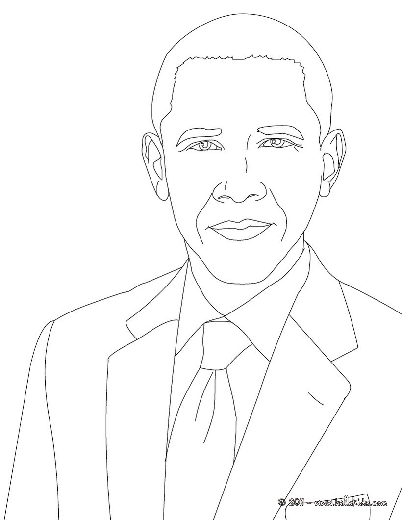 820x1060 President Barack Obama Coloring Pages Hellokids Com And Page