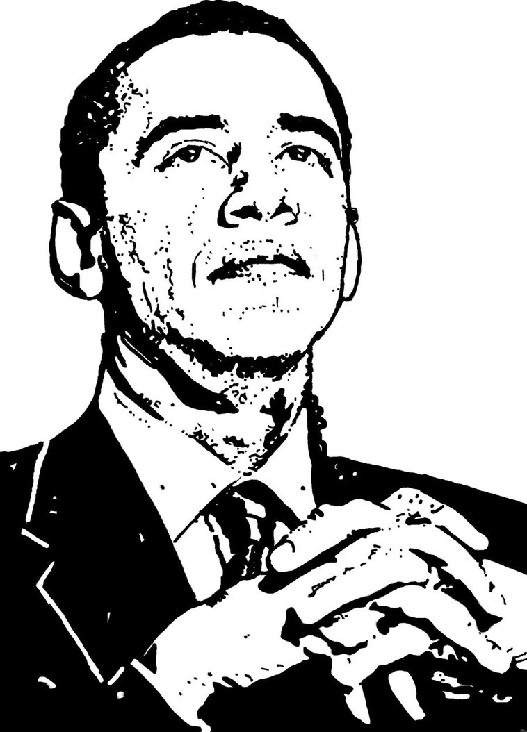 758x1054 President Barack Obama By Ladyjart