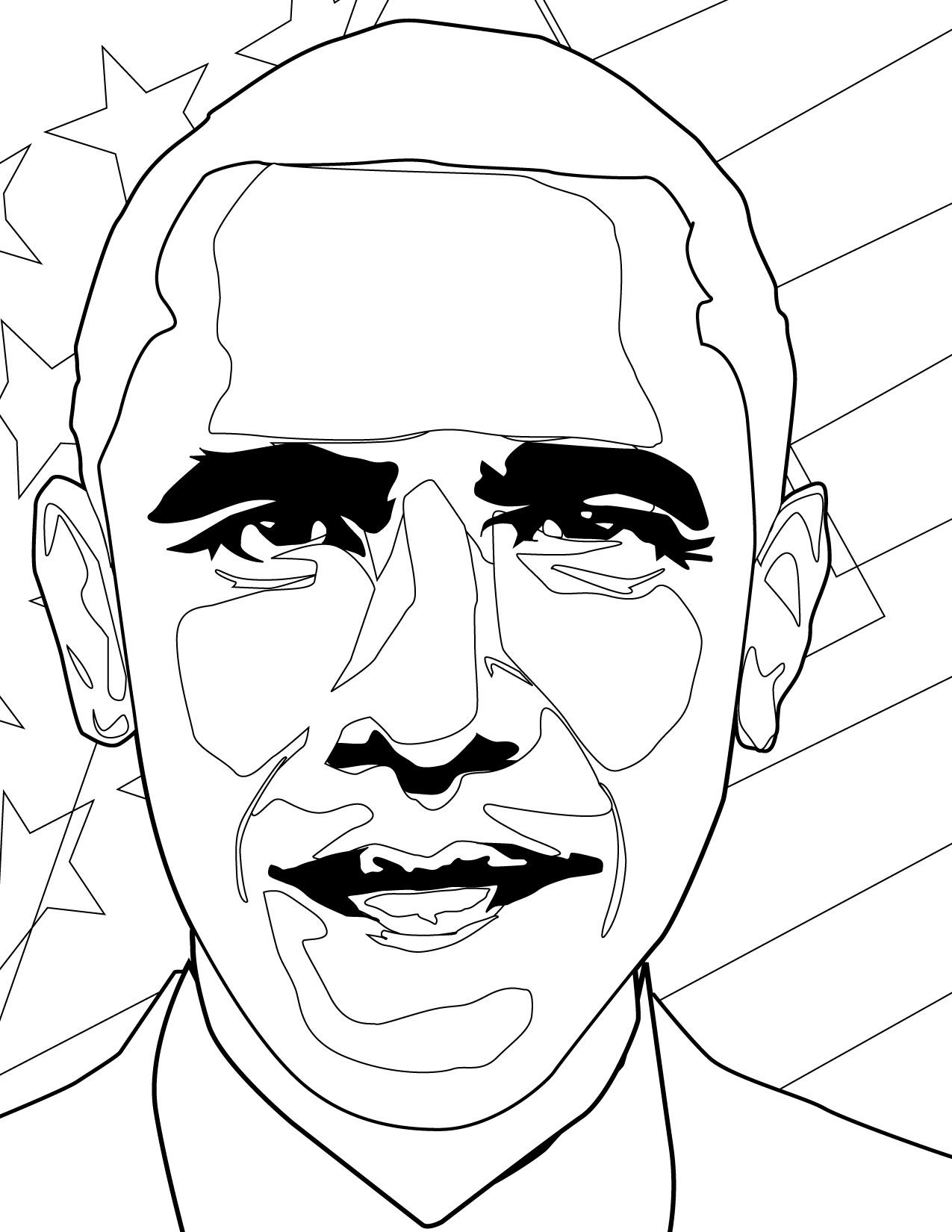 1275x1650 President Obama Coloring Page Barack Obama