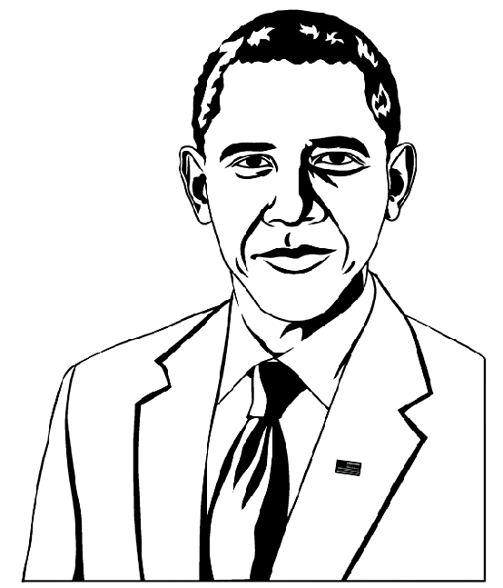 554x647 President Obama Coloring Page2 Amp Coloring Book