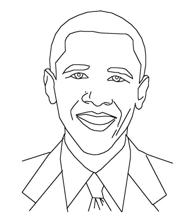 600x691 Coloring pictures of barack obama Barack Obama, Amazing Barack