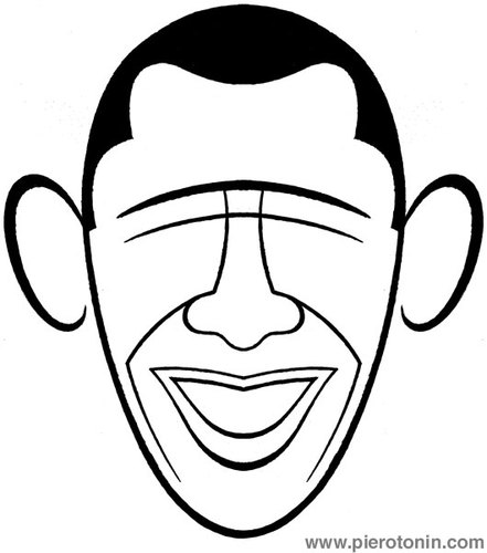 441x500 Barack Obama By Piero Tonin Politics Cartoon Toonpool