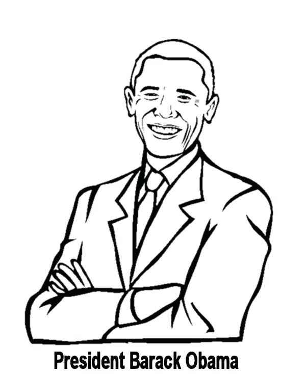 600x734 Barack Obama Coloring Book 29 And Coloring Page President Obama