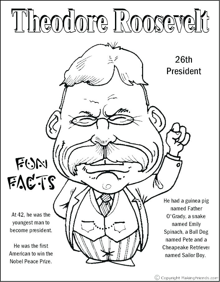 706x906 Inspirational Presidents Day Coloring Pages Printable Fee Free