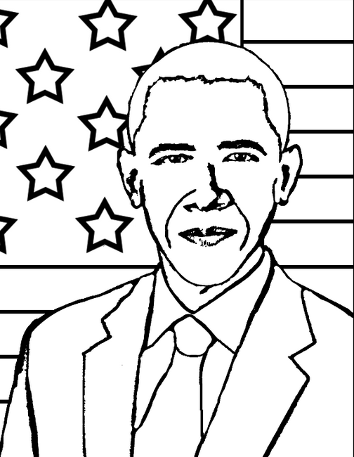 504x650 President Obama Coloring Page Amp Coloring Book