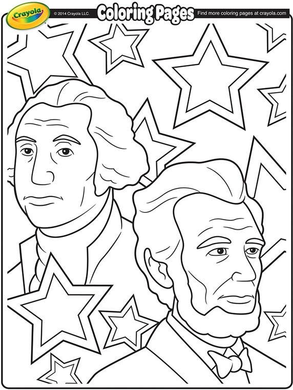 572x762 Presidents Day Coloring Sheets