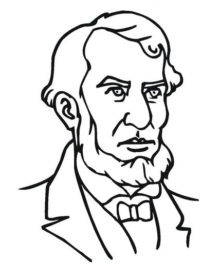 426x515 Presidents Day Lincoln Coloring Page Amp Coloring Book