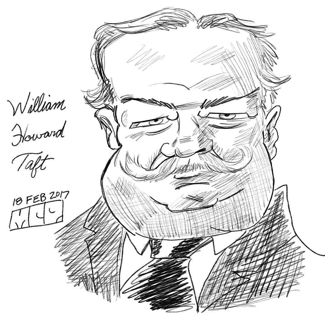 1080x1080 William Howard Taft For President' Day
