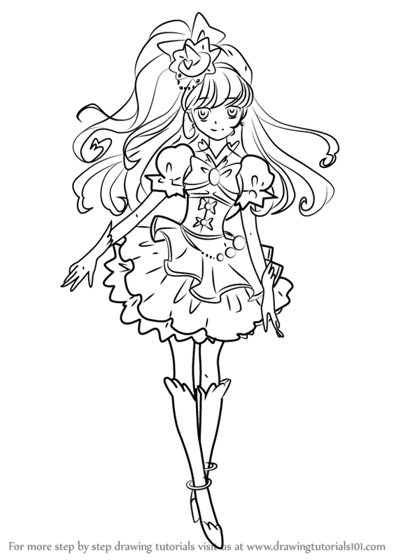 566x800 Learn How To Draw Cure Miracle From Pretty Cure (Pretty Cure) Step
