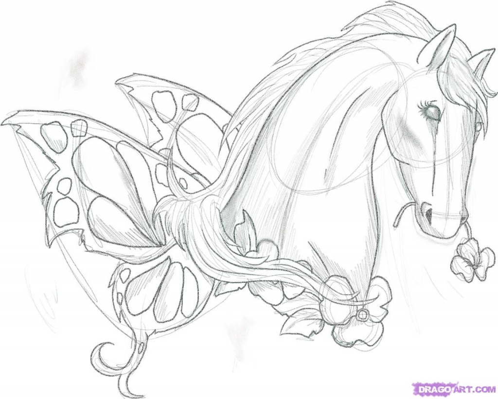 1024x821 Beautiful And Easy Drawings To Draw Of Horses How To Draw A Pretty