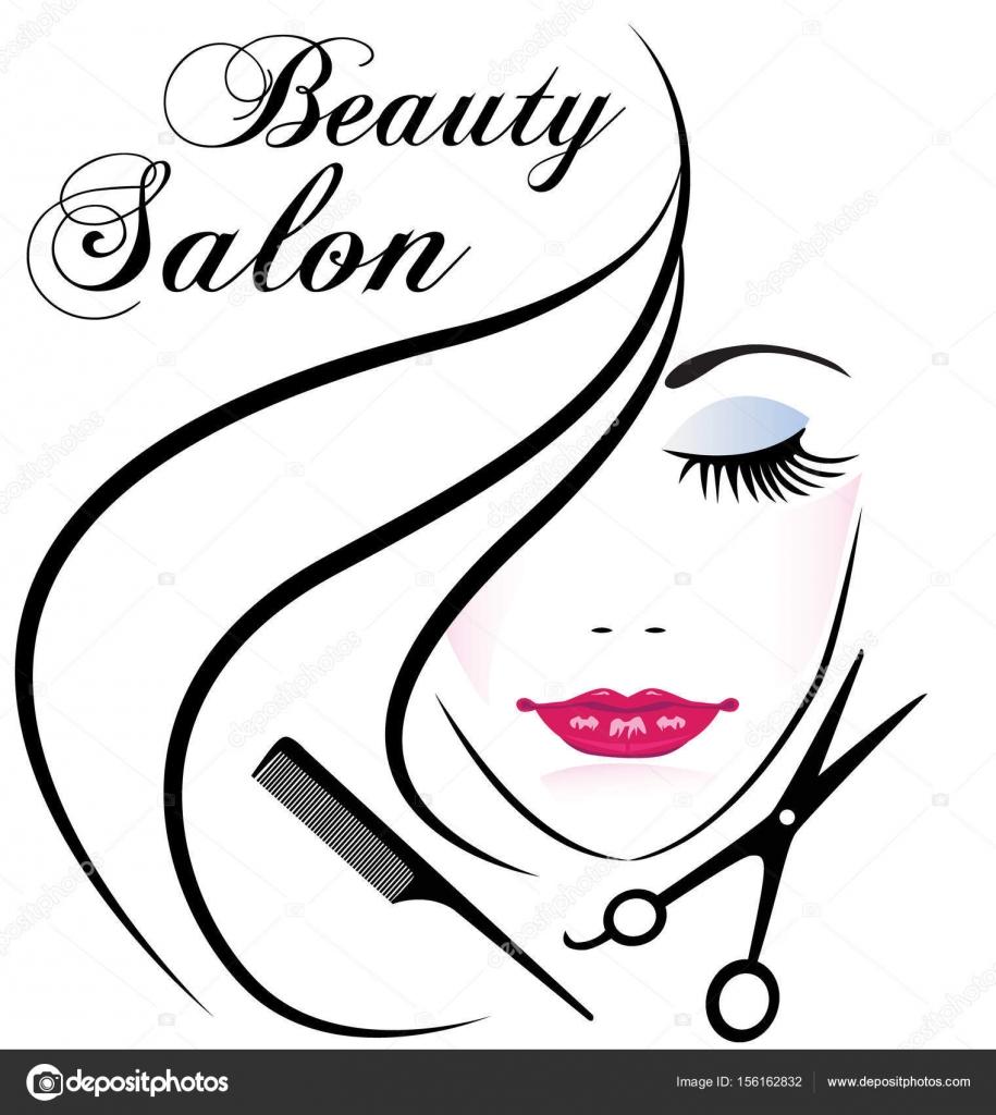 915x1024 Face Of Pretty Woman Beauty Salon Logo Vector Stock Vector
