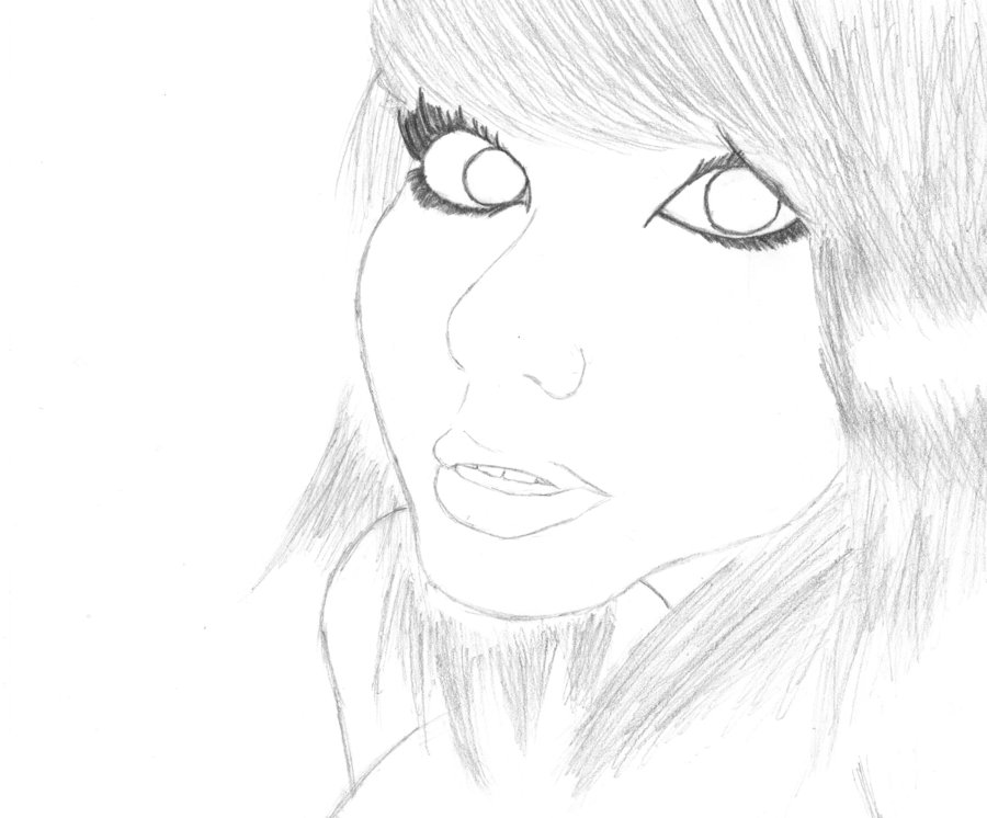 900x746 Pretty Face Sketch By Houndzart