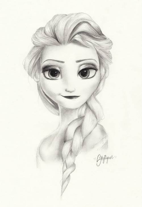 500x726 Beautiful Elsa Drawing Disney Elsa, Drawings