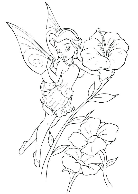 567x794 Fairy Coloring Books Also Fairy Coloring Pages Pretty Fairy