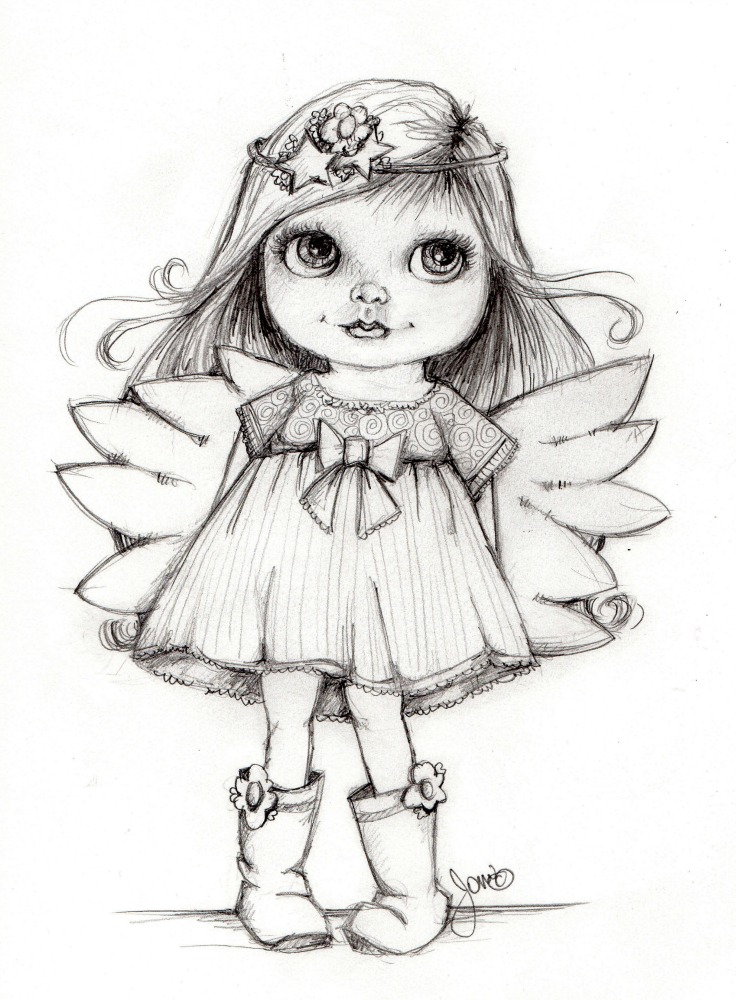Pretty Fairy Drawing At GetDrawings