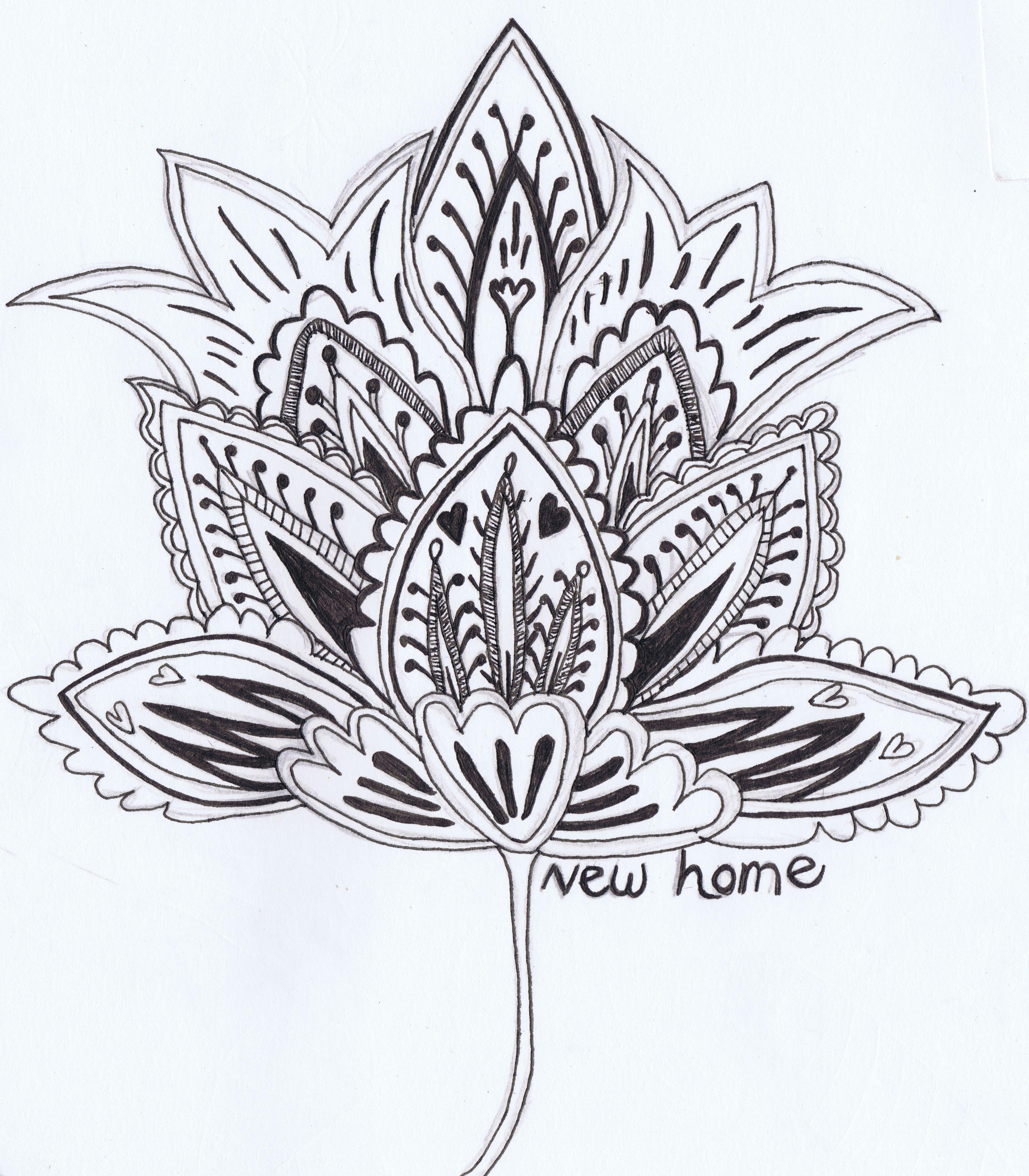 3934x4496 Pretty Flower Sketches [ Pretty Flower Sketches ] Simple