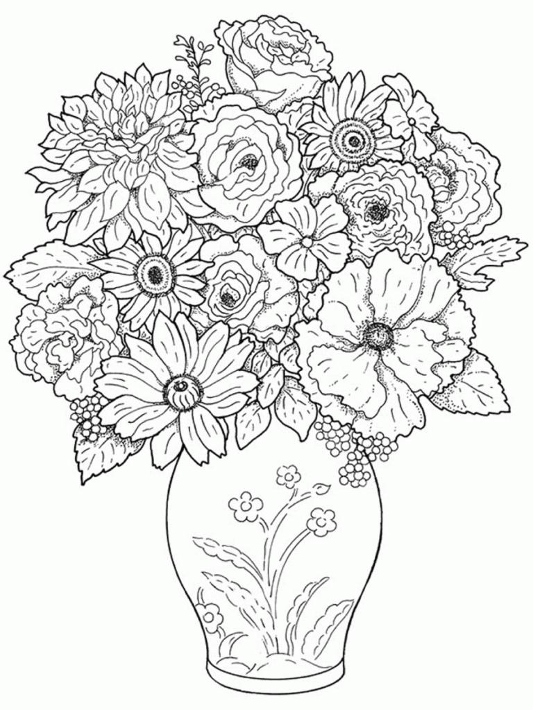 768x1024 Pencil Drawing Of Flowers In Flower Pot Cute Flower Pot Pencil