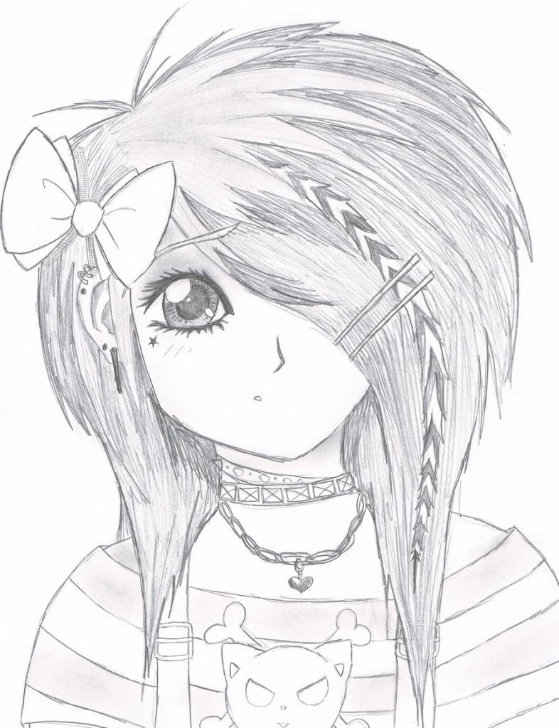 786x1024 Pretty Girl Drawing Anime Pretty Girl Drawing