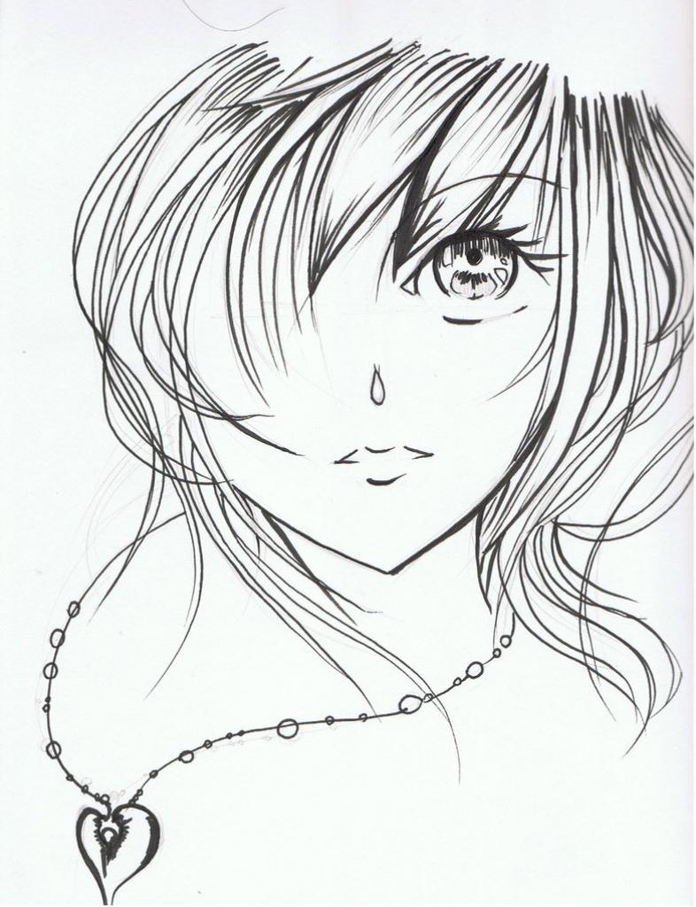786x1024 Beautiful Animated Girl Sketches Faces Anime Girl Face~shikonari89