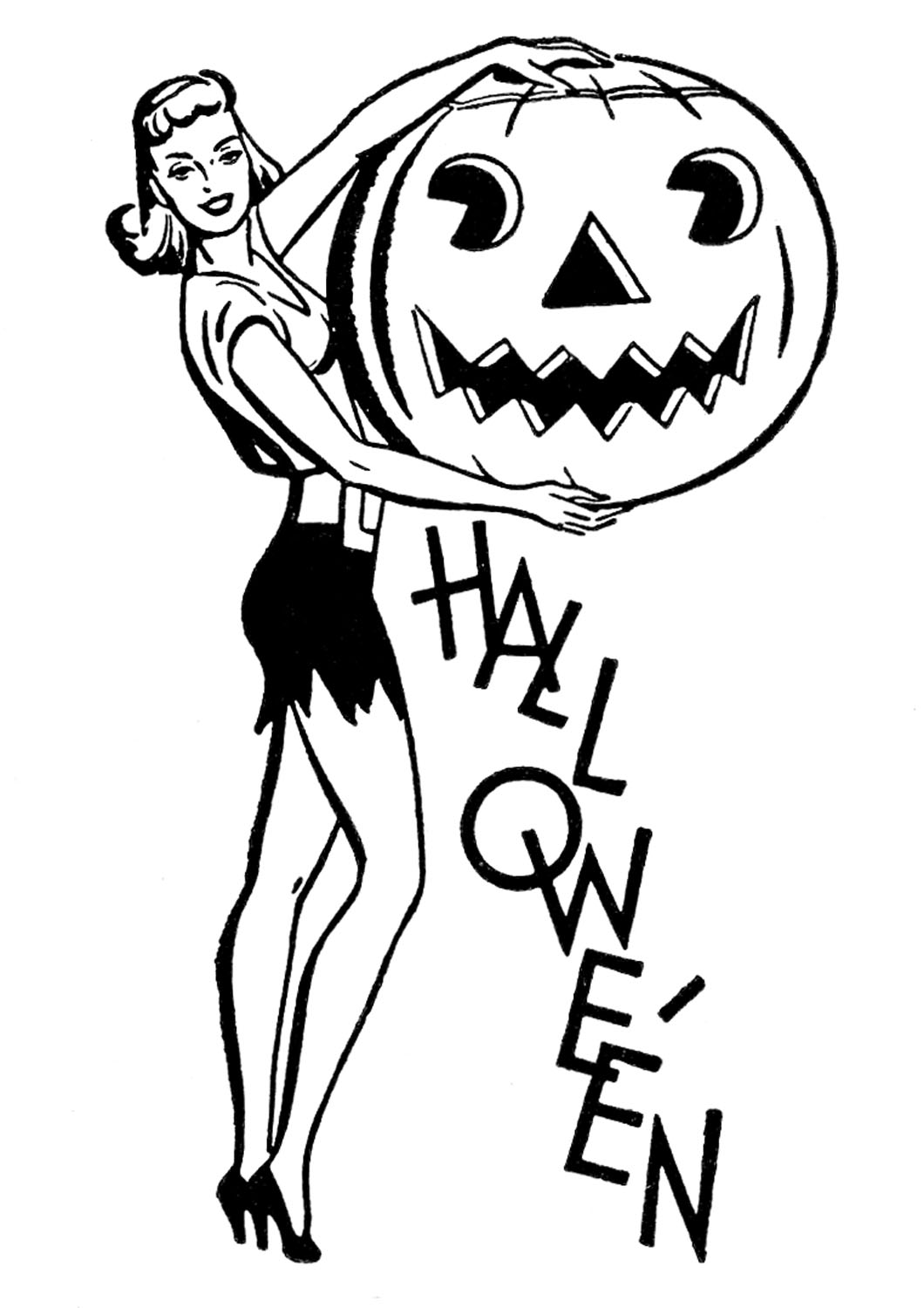 1060x1500 Retro Halloween Clip Art