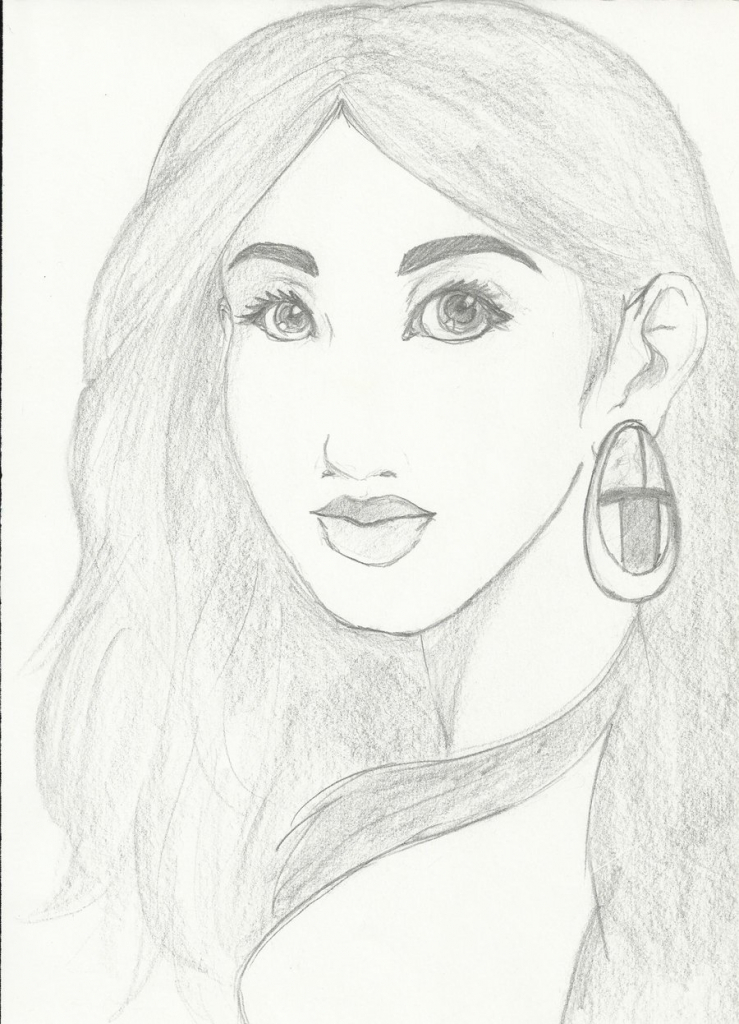 739x1024 Beautiful Lady Sketch
