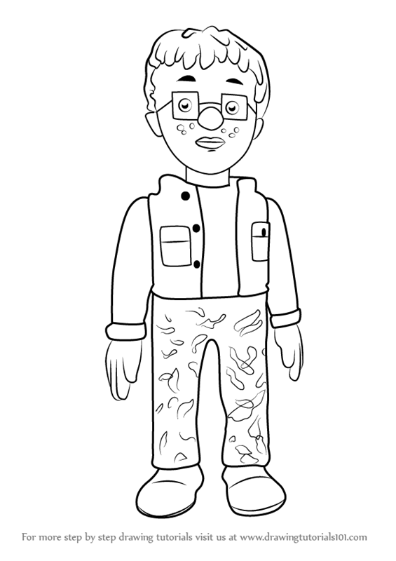 565x800 Learn How To Draw Norman Price From Fireman Sam (Fireman Sam) Step