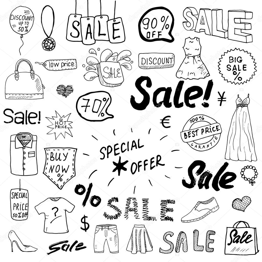 1024x1024 Sale Signs And Price Discount Tags, Shopping Associated Symbols