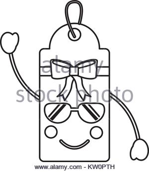 300x347 Gift Or Price Tag Happy Sunglasses Emoji Icon Image Stock Vector