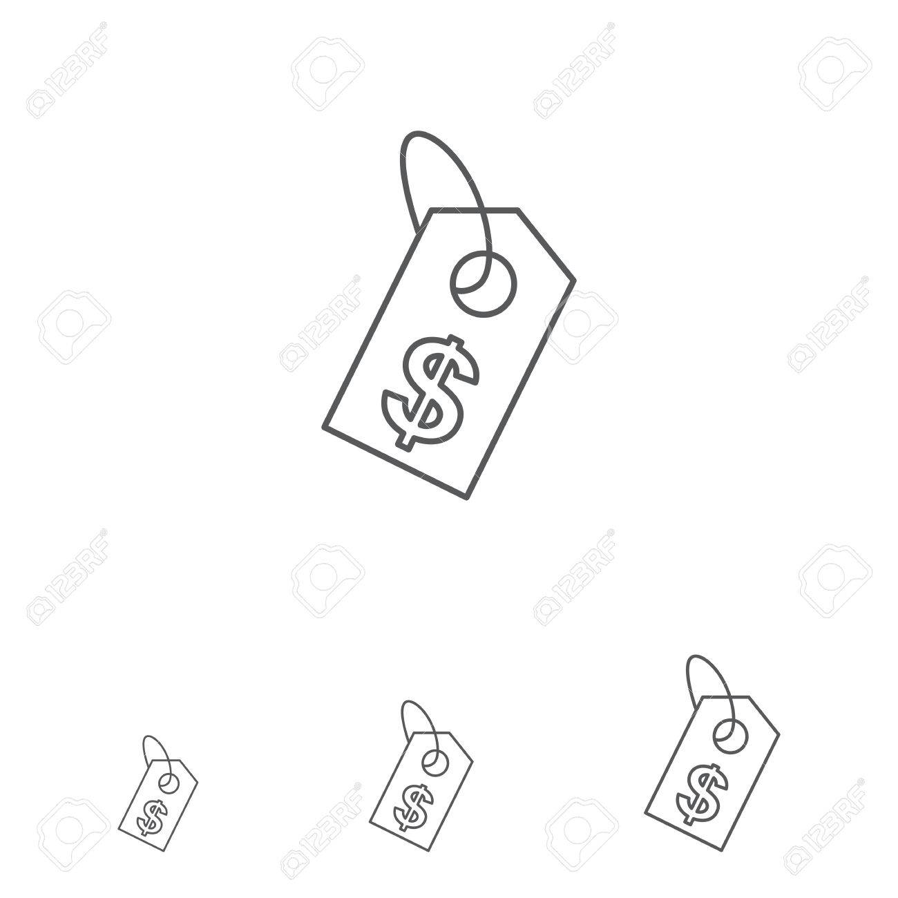 1300x1300 Icon Of Price Tag With Dollar Sign Royalty Free Cliparts, Vectors