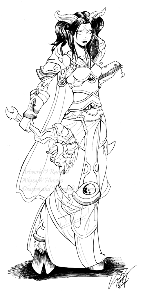 500x1032 Commission Draenei Priest By Ranefea