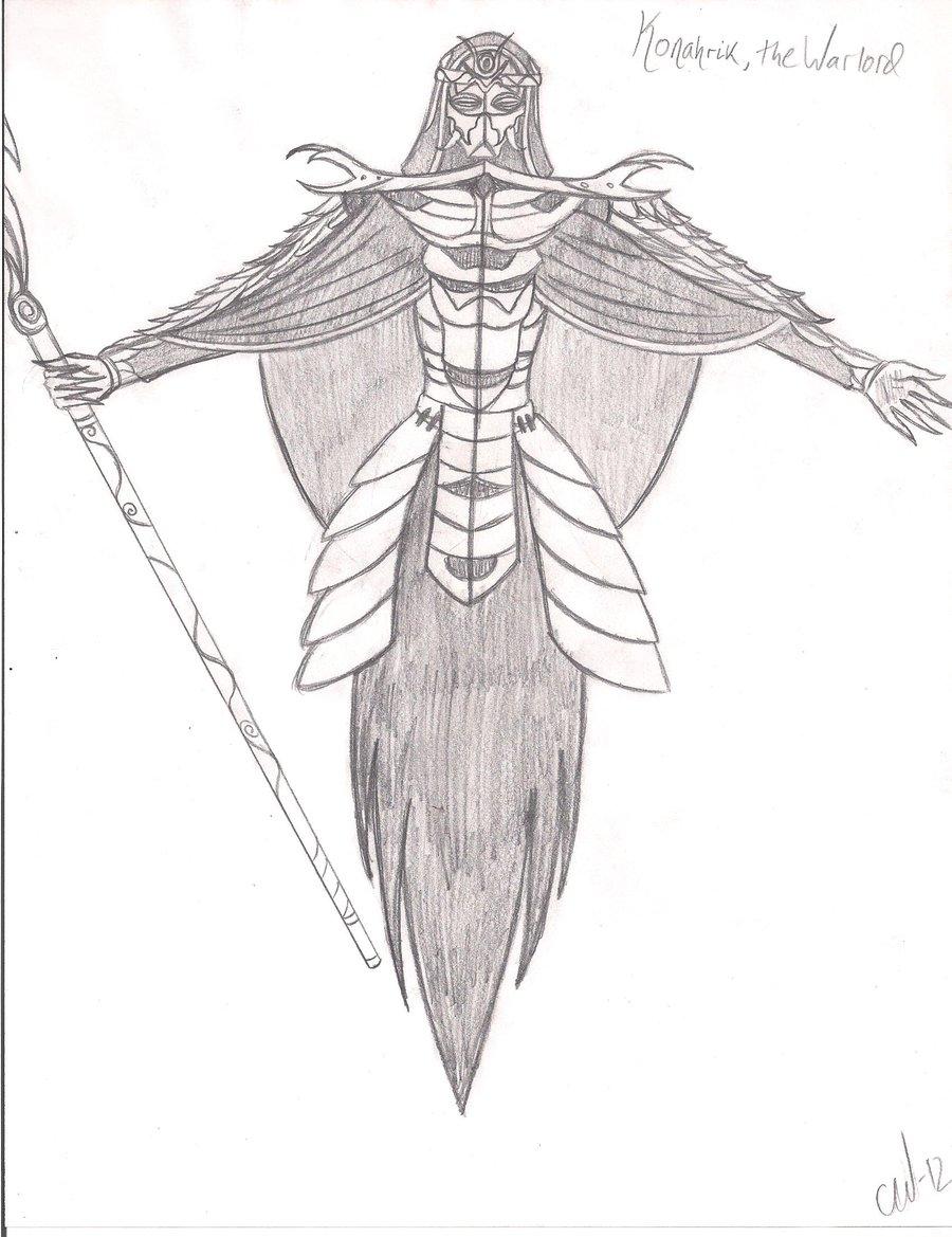900x1169 Dragon High Priest Konahrik, The Warlord By Vanwa Haleth