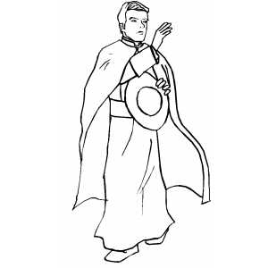 300x300 Priest Coloring Page