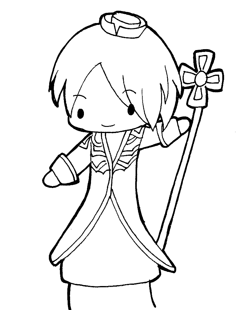 784x1009 Ro Priest Chibi Lineart By Cannira