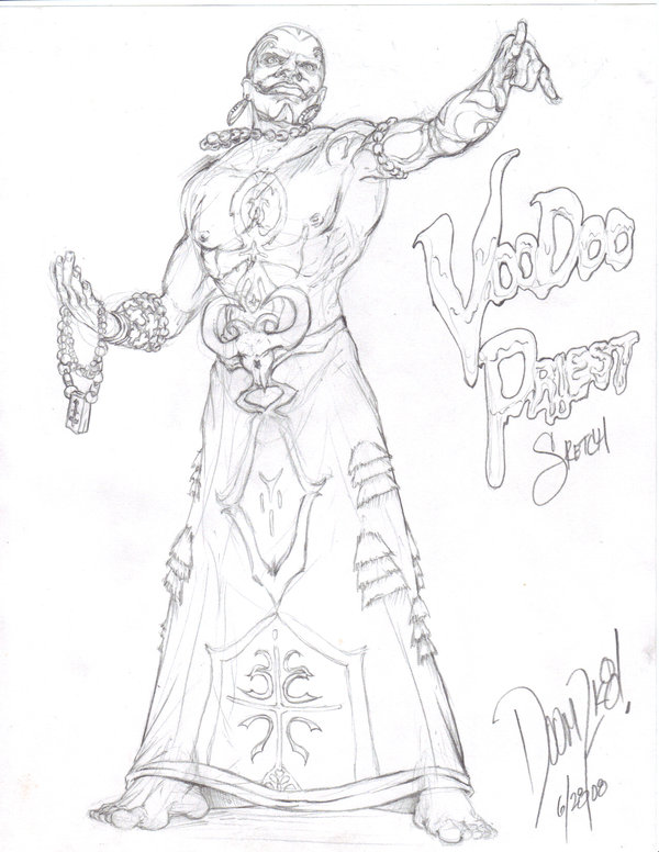 600x776 Voodoo Priest Sketch By Doomsmith