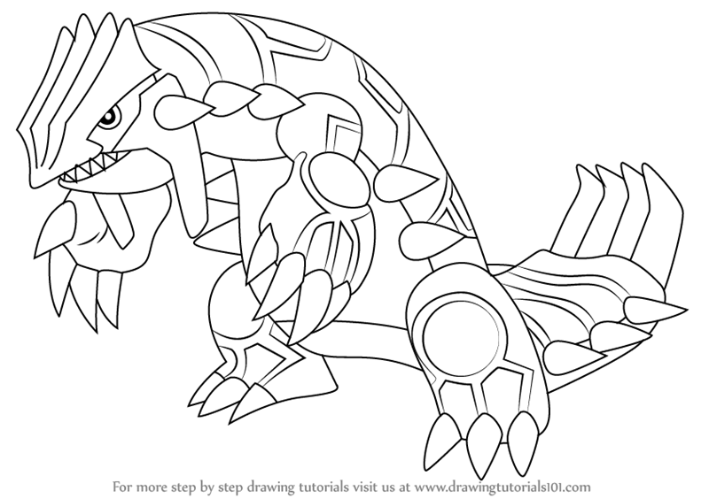 800x564 Learn How To Draw Groudon From Pokemon (Pokemon) Step By Step