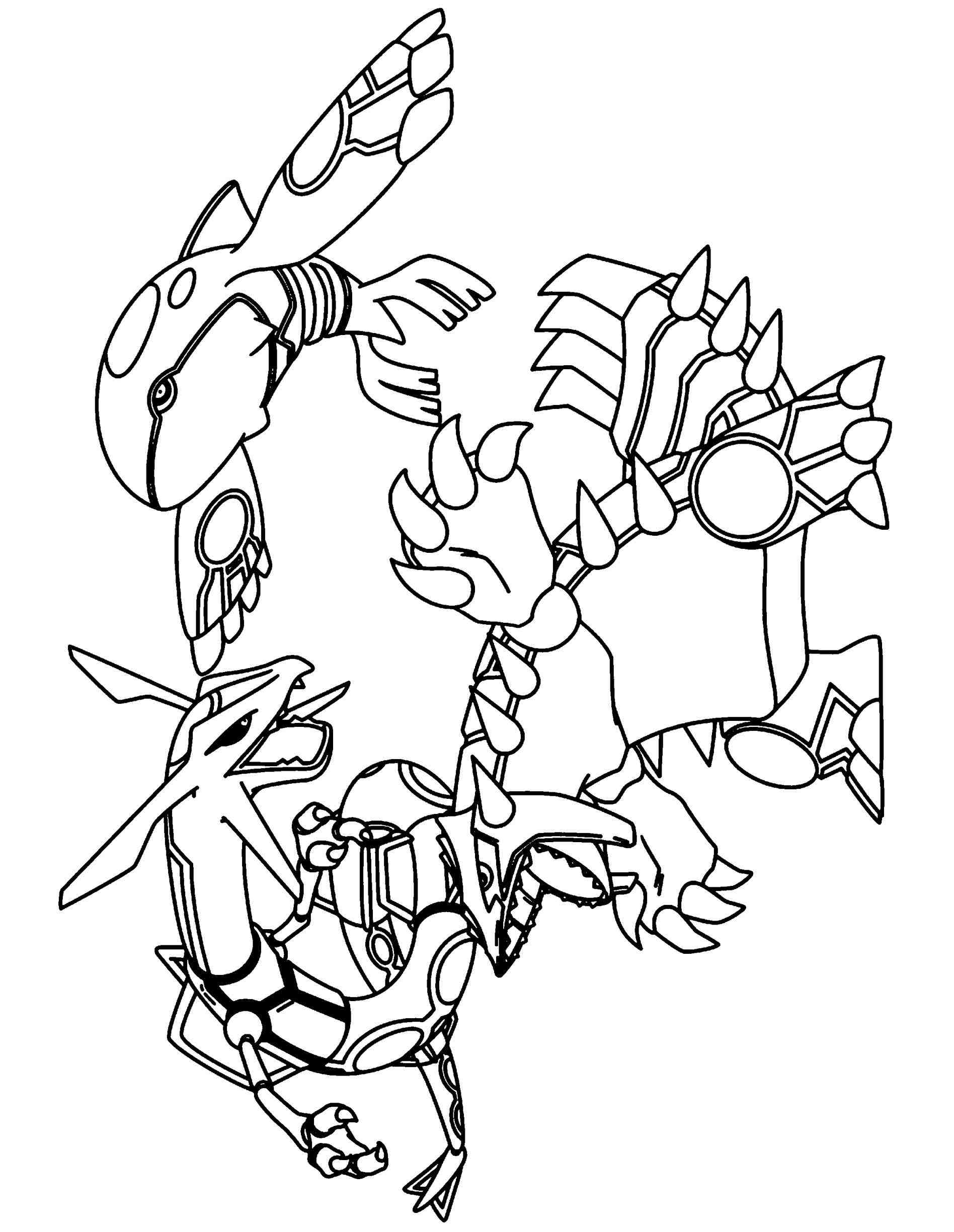 1896x2449 Pokemon Primal Groudon Coloring Pages