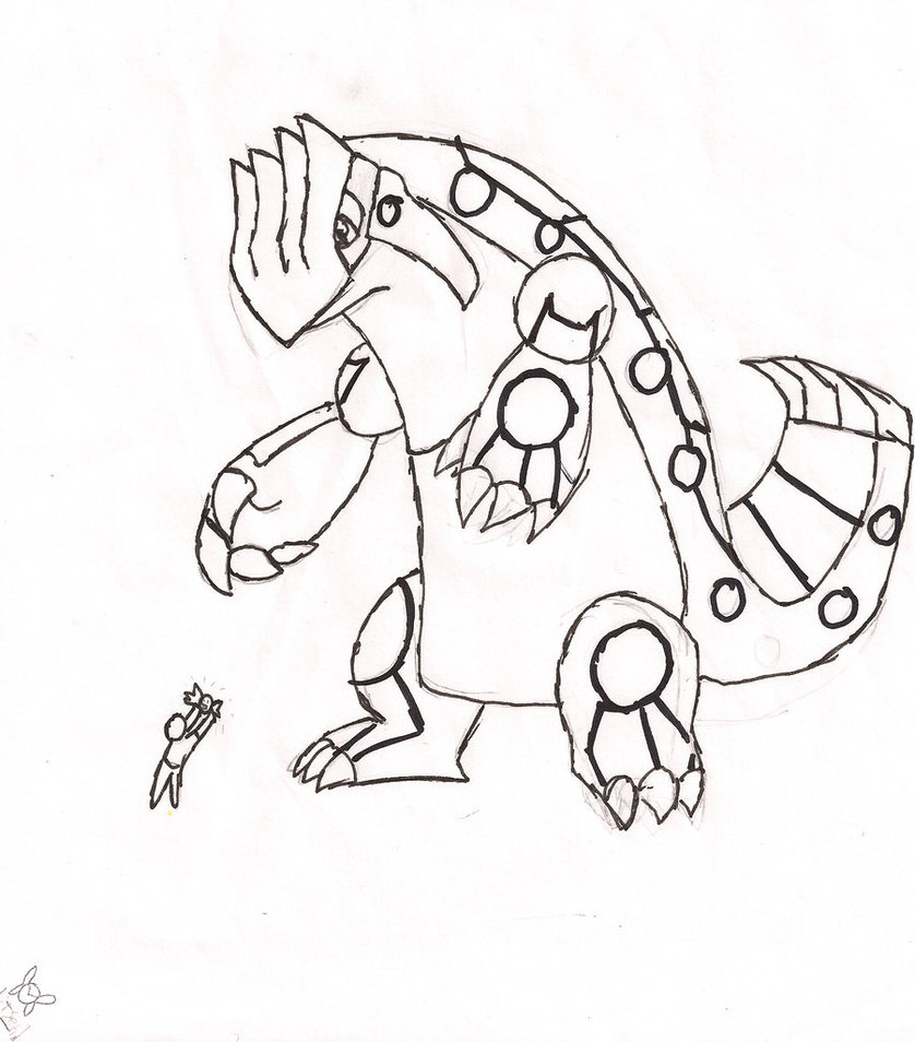 838x954 Pokemon Primal Groudon Coloring Pages