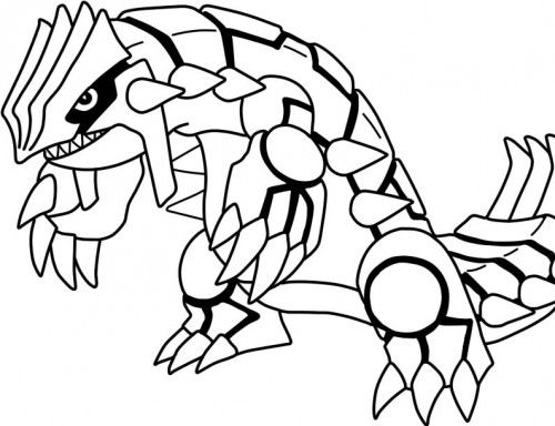 500x384 Primal Groudon Coloring Page